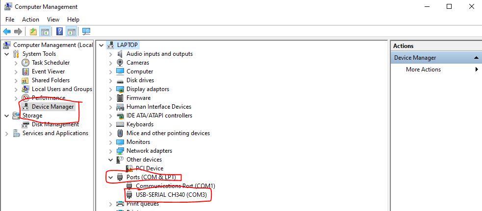 Find your com port