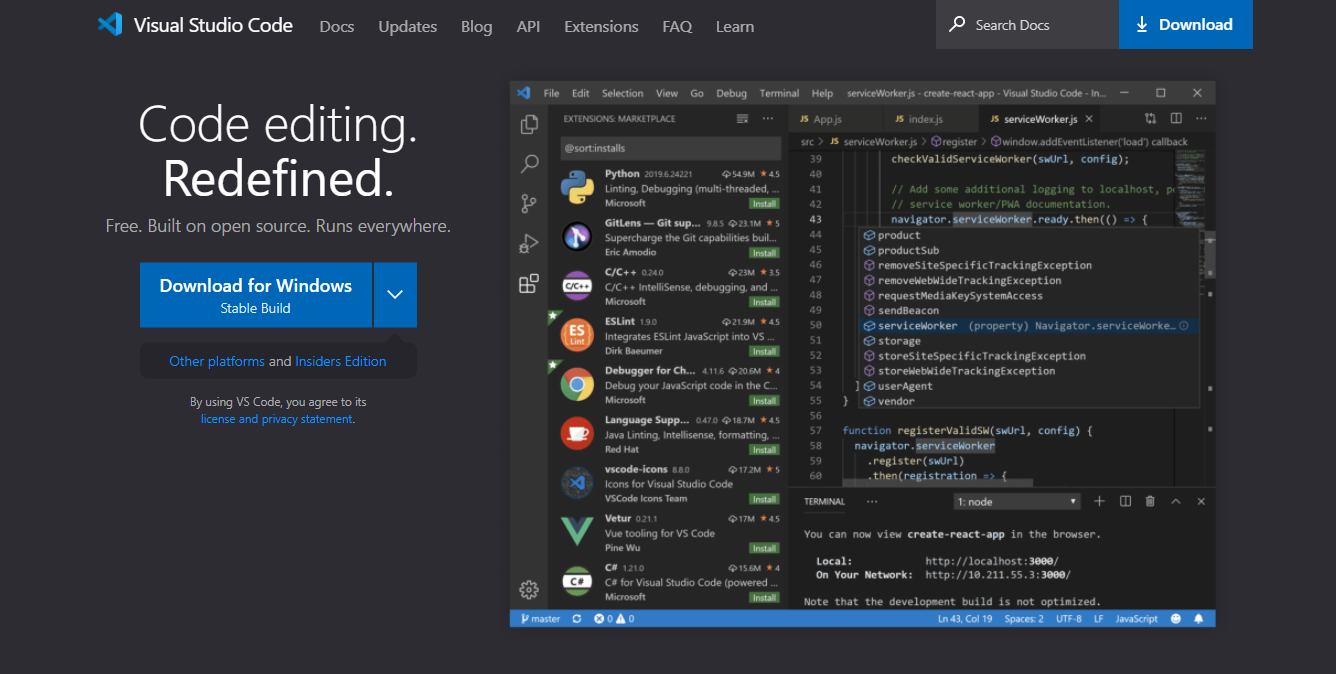 Visual Studio Code Download Page